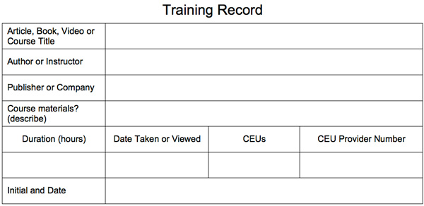Free Training Record From Security Training Center 174 Llc